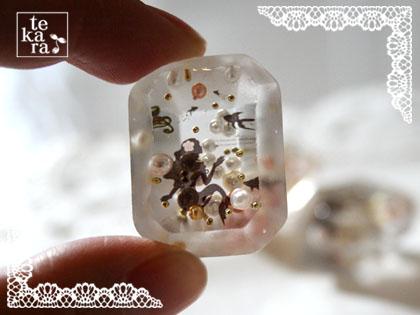 ダイソーのダイヤ型と指輪型製氷器で*_a0139874_12323939.jpg