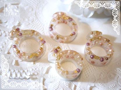ダイソーのダイヤ型と指輪型製氷器で*_a0139874_12334787.jpg