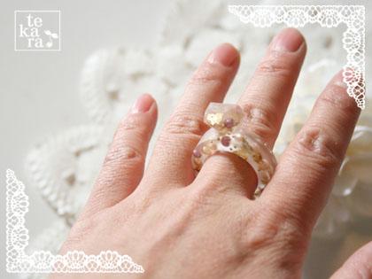 ダイソーのダイヤ型と指輪型製氷器で*_a0139874_12341633.jpg