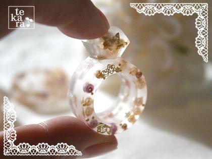 ダイソーのダイヤ型と指輪型製氷器で*_a0139874_1234178.jpg