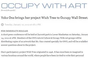 NYのウォール街デモにOno Yokoさんもアート作品で参加_b0007805_23301174.jpg