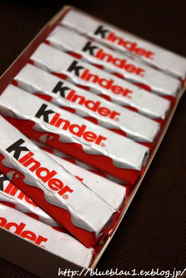 Kinder Chocolateとスーパーのおやつ_c0069026_2214777.jpg
