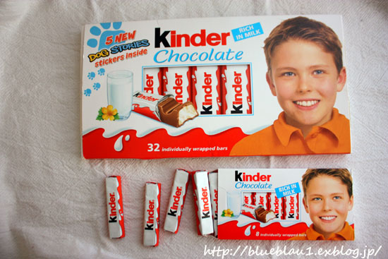 Kinder Chocolateとスーパーのおやつ_c0069026_22153029.jpg