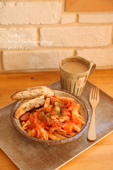 具沢山トマトスープで☆トマトチーズペンネ _f0192151_22121612.jpg