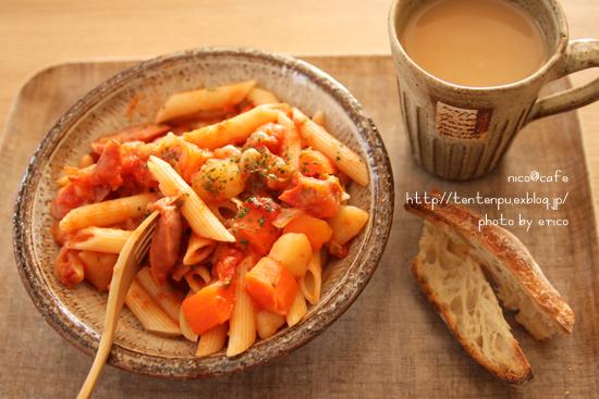 具沢山トマトスープで☆トマトチーズペンネ _f0192151_2233521.jpg