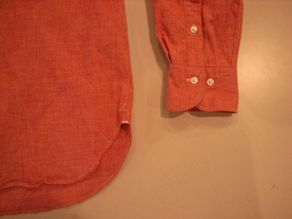 """TheThreeRobbers BOTTON DOWN COLLAR SHIRT RED CHAMBRAY\""ってこんなこと。_c0140560_12213531.jpg"