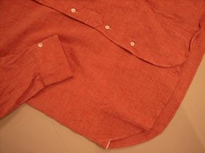 """TheThreeRobbers BOTTON DOWN COLLAR SHIRT RED CHAMBRAY\""ってこんなこと。_c0140560_12223110.jpg"
