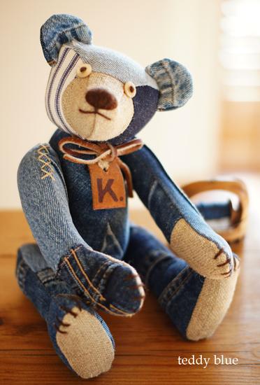 blue jean teddy  はじめての友だち_e0253364_22142214.jpg