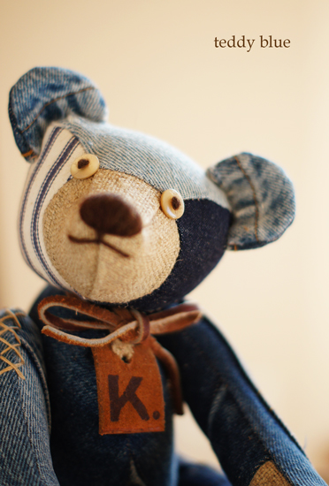 blue jean teddy  はじめての友だち_e0253364_22145080.jpg