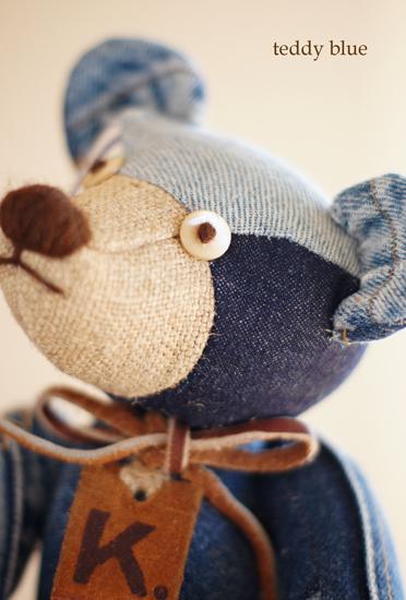 blue jean teddy  はじめての友だち_e0253364_22152180.jpg