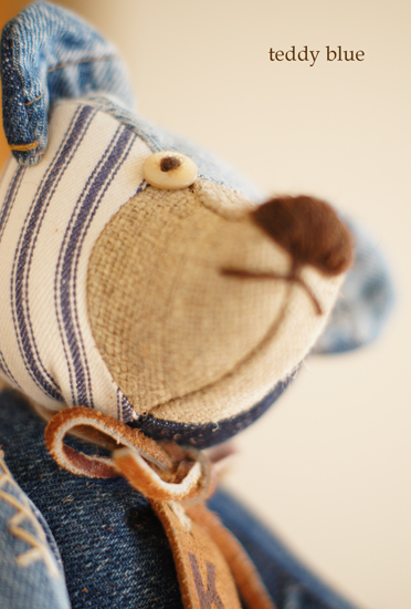 blue jean teddy  はじめての友だち_e0253364_22153047.jpg