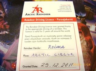 Finland トナカイソリの免許証_e0195766_7153796.jpg
