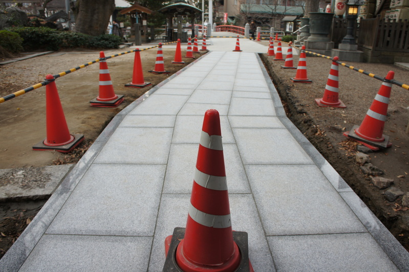 秋葉神社 参道改修工事  2011.12.23_e0223769_1858766.jpg