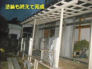 テラス屋根工事2日目 完成_f0031037_23133453.jpg