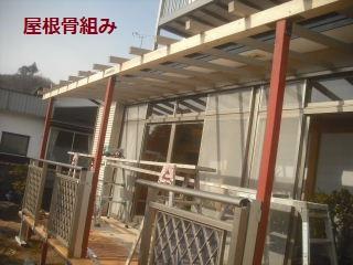 テラス屋根工事2日目 完成_f0031037_23151157.jpg