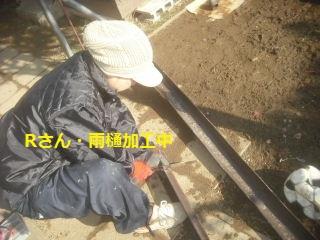 テラス屋根工事2日目 完成_f0031037_23195616.jpg