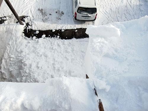 雪庇落としに、トライ!_c0189970_11165794.jpg