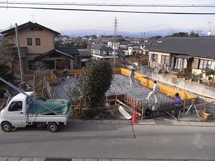『麓山の家』 基礎配筋工事_e0197748_2144668.jpg