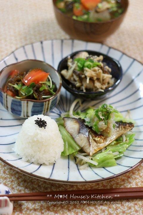 鯖の塩焼きワンプレート ☆ ごはんの食べ方♪_c0139375_15105310.jpg
