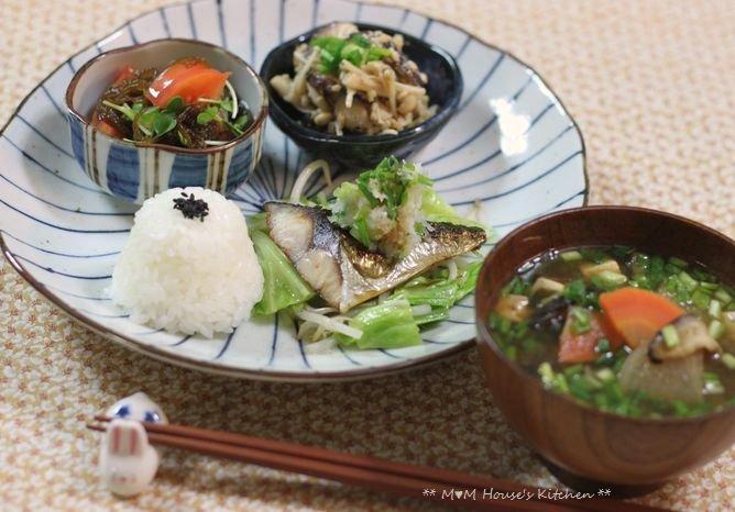 鯖の塩焼きワンプレート ☆ ごはんの食べ方♪_c0139375_1512564.jpg