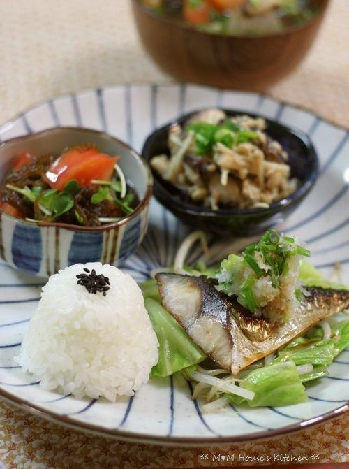 鯖の塩焼きワンプレート ☆ ごはんの食べ方♪_c0139375_1512677.jpg