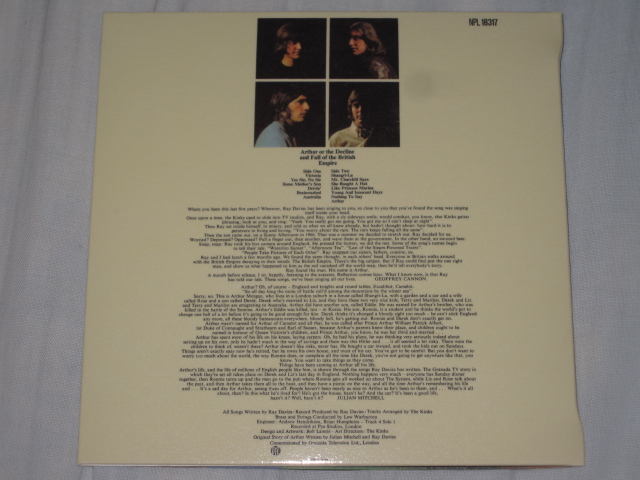 THE KINKS / Arthur Or The Decline And Fall Of The British Empire (紙ジャケ)_b0042308_991619.jpg