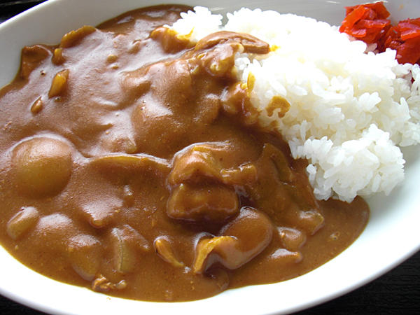 Curry Rice / カレーライス Most common way to serve curry rice.