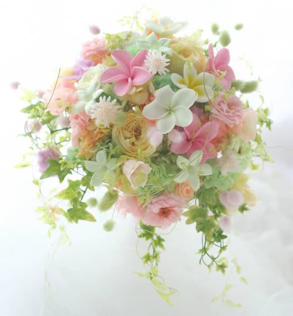 花のネックレス、イヤリング、カチューシャ、リストレット、トトロなブーケ モントレ赤坂様へ_a0042928_917131.jpg