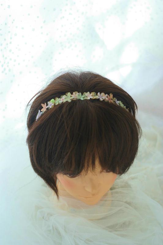 花のネックレス、イヤリング、カチューシャ、リストレット、トトロなブーケ モントレ赤坂様へ_a0042928_982352.jpg