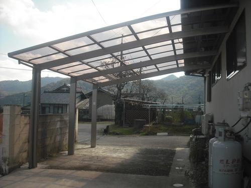 安芸高田市    S様邸 カーポート設置工事_d0125228_17154895.jpg