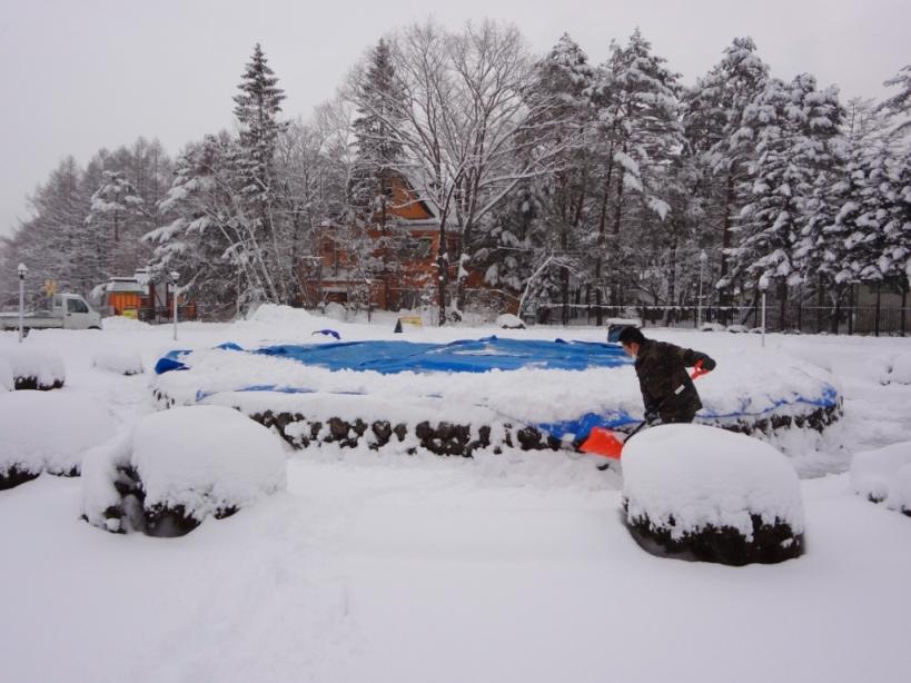 雪の作業_f0180878_20353563.jpg