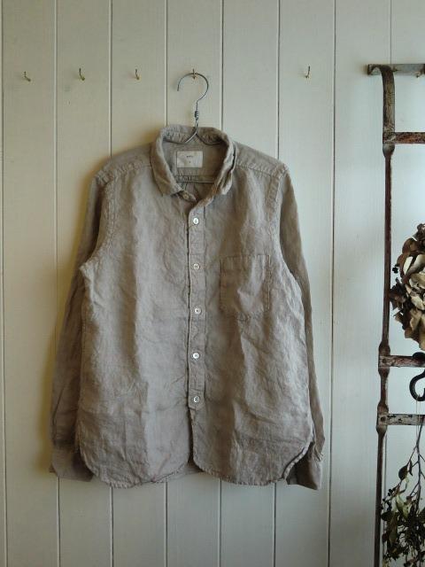 フレンチリネンシャツ。_a0164280_15423423.jpg