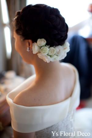 ころんとしたお花のティアドロップブーケ ウェスティンホテルのおふたりに_b0113510_1524655.jpg