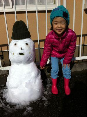 with 雪だるま_e0061304_19175149.jpg