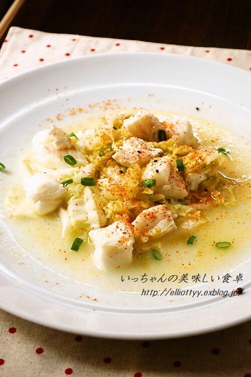 さっぱりコクうま白菜とタラのレモンバター蒸し_d0104926_5352262.jpg