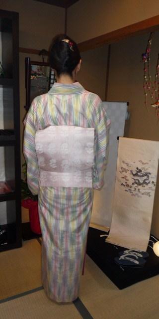 お客様の着姿・人間国宝、土屋順紀さんの素敵な紬_f0181251_19221632.jpg