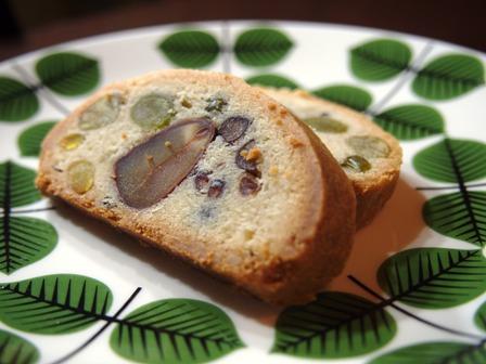 豆と栗のシュトーレンのような発酵菓子_e0167593_23291379.jpg