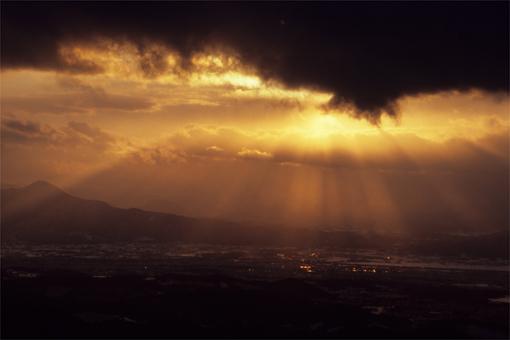 冬の夕日と初☆☆☆!_c0181457_4224861.jpg