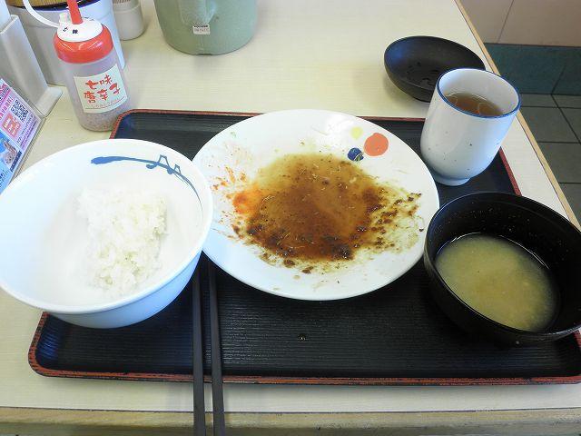 松屋の豚テキ定食    布施南店_c0118393_1920230.jpg