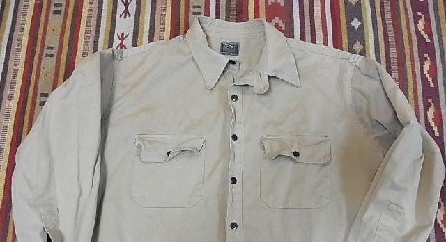 30'S チンスト コットンツイルシャツ !_c0144020_15151559.jpg