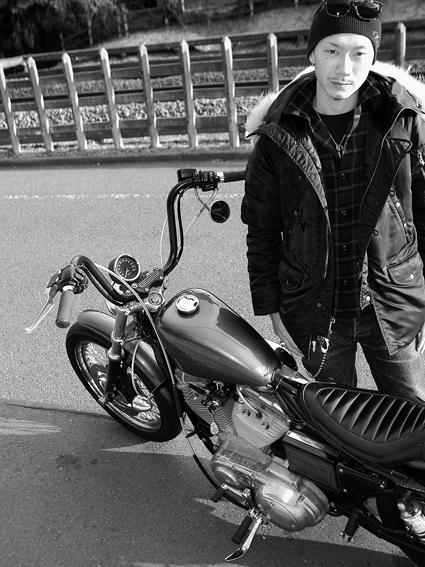 池田 真吾 & Harley-Davidson XLH883 Hugger(2011 1225)_f0203027_14482059.jpg
