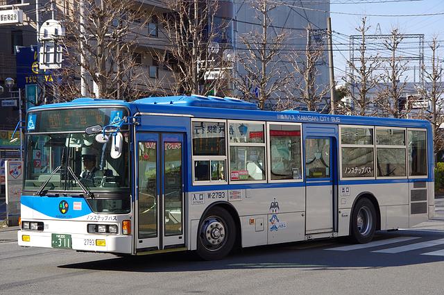 川崎市バス W-2793 : 旧路線バス...