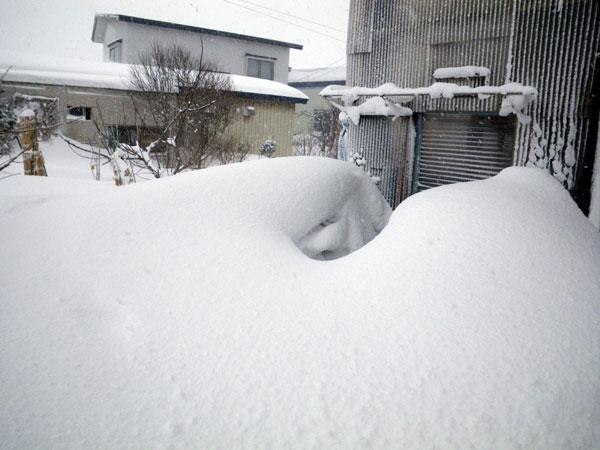 ミャンハウスに雪の階段(^^)v_a0136293_1751793.jpg