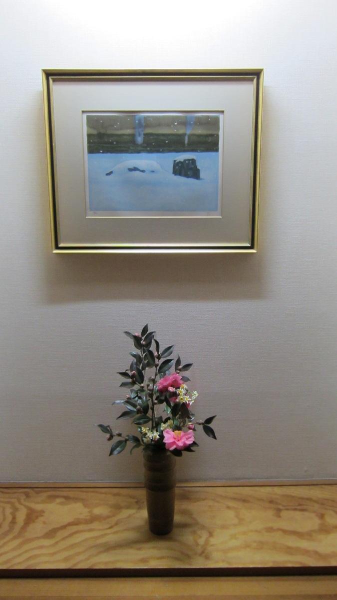 玄関の絵と華_a0107574_20372250.jpg