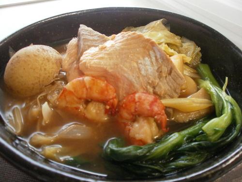 石狩鍋風 魚介と冬野菜の煮込み_c0173014_10104474.jpg