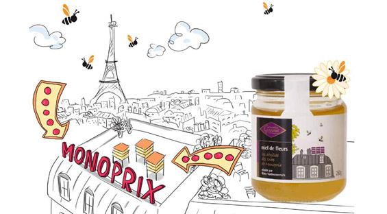 【Monoprix Gourmet】ハチミツMIEL MADE IN PARIS_a0014299_18121635.jpg