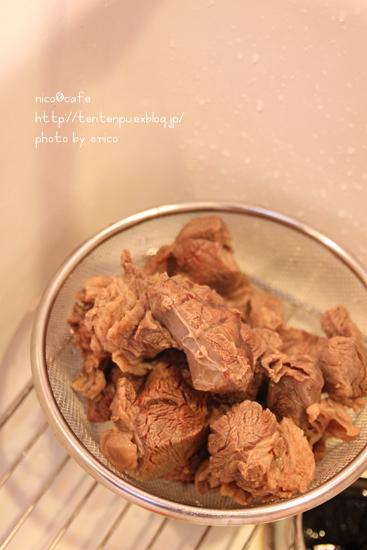 牛すじ肉の下ごしらえ~☆ ポトフマスタード醤油風味_f0192151_22191971.jpg