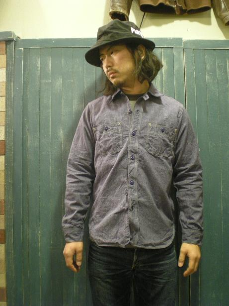 Neal Cassady Rail Road VINTAGE PURPLE CHAMBRAY_d0160378_19135788.jpg
