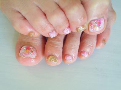 Marble Flower Nail_a0239065_16521364.jpg
