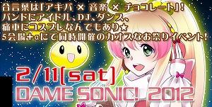 『DAME SONIC 2012-Akihabara*Chocolate Night-』 開催_e0025035_15324791.jpg